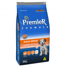 Ração Premier Filhotes Raças Médias para Cães Sabor Frango - 20kg