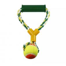 Brinquedo Mordedor Western Para Cães com Bola e Alça
