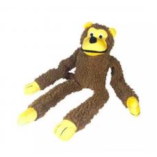 Macaco Chalesco Brinquedo Para Cães Pelúcia Marrom
