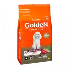 Ração Golden Fórmula Mini Bits Para Cães Adultos Pequeno Porte Sabor Carne e Arroz 15kg