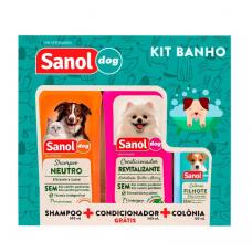 Kit Sanol Dog de Shampoo, Colônia e Condicionador