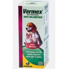 Vermifugo Oral Para Caes E Gatos 20ml Vermex